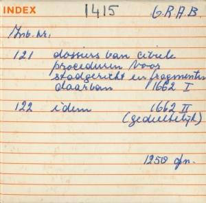 Microfilmdoosje met omschrijving van inhoud en aantal opnamen.