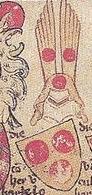 Het wapen van Henricus van Borculo, afgebeeld in de Heraut Gelre. Dit wapen was afgebeeld op een banier dat deze heer van Borculo bij zich droeg als bondgenoot van de graaf van Gelre in de Slag bij Worringen in 1299