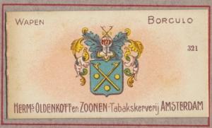 Wapen van de gemeente Borculo in het 'Wapen Album' van de firma Oldenkott (1924).